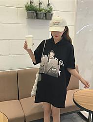 Знак сестра супер мило детей с капюшоном t печати длинная юбка