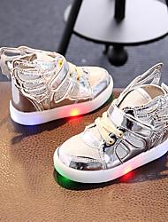 Mädchen-Sneaker-Lässig Sportlich Party & Festivität-Kunststoff Stoff-Flacher Absatz-Light Up Schuhe-Gold Silber Rosa