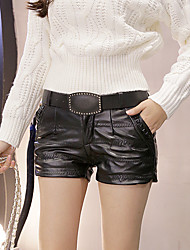 Real fashion shoot wild PU leather pants embroidered pants, boots, pants send belt large spot