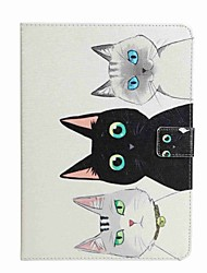 For Card Holder Wallet with Stand Flip Pattern Case Full Body Case Cat Hard PU Leather for Apple iPad Pro 9.7'' iPad Air 2 iPad Air