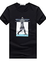 Sommermänner&# 39; s kurz-sleeved T-Shirt Baumwolle schlanke jugendlich Sommerkleidung koreanische Männer&# 39; s Kurzhülse