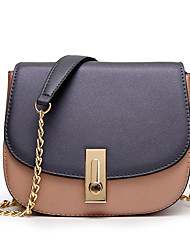 Women PU Formal Sports Casual Event/Party Wedding Outdoor Office & Career Chain Saddle Shoulder Bag