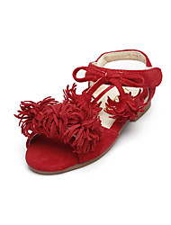 Girls' Sandals Summer Comfort Flower Girl Shoes Leatherette Outdoor Office & Career Party & Evening Dress Casual Flat Heel Tassel