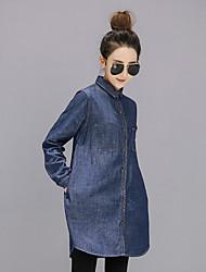 Signe 2017 nouvelle chemise de denim de cargaison européenne femme à manches longues chemise coréenne marée lâche