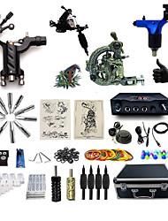 Kit de tatouage complet1 x Machine à tatouer en acier pour le traçage et l'ombrage 2 x Machine à tatouer rotative pour le traçage et