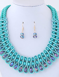 Jewelry Set Euramerican Fashion Alloy Round Necklace Earrings For Party 1set Wedding Gifts