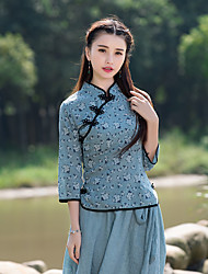 2016 new Chinese national wind female costume Han Chinese clothing cheongsam improved sleeve cotton T-shirt