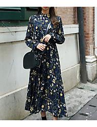 Spot Korea NEW ARRIVAL retro flower dress with high collar