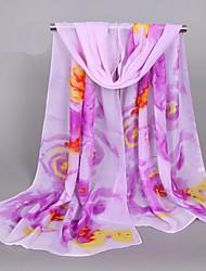 Women's Fashion Chiffon Casual Print Floral Spring Summer Scarfs 160*50CM