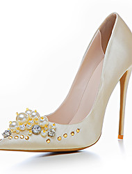 Damen-High Heels-Hochzeit Party & Festivität Kleid-Satin maßgeschneiderte Werkstoffe-Stöckelabsatz-Club-Schuhe-Gold Schwarz Silber