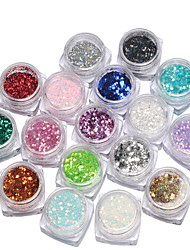 17box Nail  Jewelry Sequins  Mixed Size Manicure Colorful Sequins