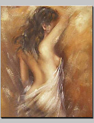 Hand-Painted Modern Abstract Naked Girl Oil Painting On Canvas Wall Art For Home Decoration Ready To Hang