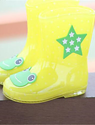 Boys' Boots First Walkers Fabric Spring Summer Outdoor Casual Rain Boots Flat Heel Yellow Blue Blushing Pink 1in-1 3/4in