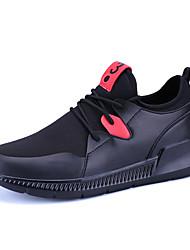 Herren-Sneakers Frühjahr Herbst Komfort PU lässig schwarz / rot schwarz weiß
