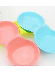 Alimentadores cão pet tigelas&Alimentação cor de rosa azul
