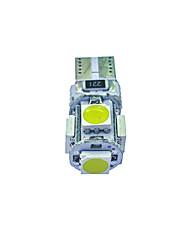 10pcs t10 5 * 5050 smd tabula rasa decodifica la luce bianca dc12v della lampadina dell'automobile