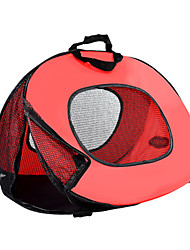 Cat Carrier & Travel Backpack Bed Pet Baskets Solid Portable Breathable Foldable Red White