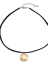 Pendant  Necklace  Women's  Girls'  Korean Simple Style  Ball  Crystal  Choker Necklaces Party Daily Movie Jewelry