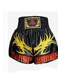 Muay Thai Boxing Pants Embroidered Dragon Sanda Muay Thai Boxing Shorts Embroidered