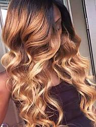 grosses soldes!! T1b / 4/27 perruque en dentelle pleine vague 100% cheveux bruns brésiliens cheveux pleins cheveux en laine pour une belle