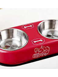 Cachorro Comedouro Animais de Estimação Tigelas e alimentação de animais Vermelho Azul