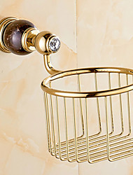 European Style Solid Brass Gold Bathroom Shelf Bathroom Toilet Paper Holder Bathroom Accessories