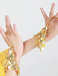 Dança do Ventre Luvas de Dança Mulheres Actuação Metal Lantejoulas 2 Peças Braceletes