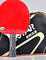 4 étoiles Ping Pang/Tennis de table Raquettes Ping Pang Bois Long Manche Boutons