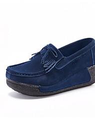 Damen-Sneakers Frühjahr Mokassin-Komfort Leder Casual Fuchsia dunkelblau schwarz