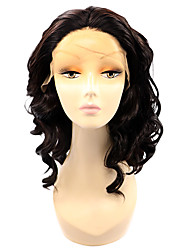 Dark Wine Color Lace Front Synthetic Wigs Loose Wave Short Heat Resistant Fiber Hair Bob Wig for Woman