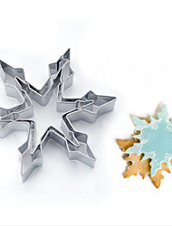 2Pcs Kitchen Mold Stainless Steel Star Snowflake Biscuit Cutter Cookie Fondant Cake Icing Mold DIY Baking Tool