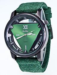 Masculino Relógio de Pulso Chinês Quartzo / Tecido Banda Legal Casual Preta Branco Vermelho Verde Rosa Azul Marinho