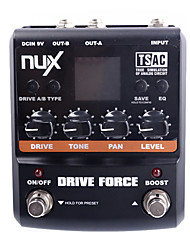 NUX Drive Force Modeling Stomp Simulator Guitar Effect Pedal 10 Modeling Stompbox Models