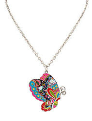 Women's Men's Pendant Necklaces Jewelry Animal Shape ChromeUnique Design Logo Style Dangling Style Animal Design Multi-ways Wear Simple