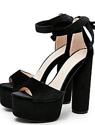 Mujer-Tacón Robusto-Zapatos del club-Sandalias-Vestido Fiesta y Noche-Terciopelo-