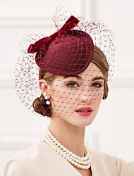 Wool Net Headpiece-Wedding Special Occasion Casual Office & Career Fascinators Hats Birdcage Veils 1 Piece
