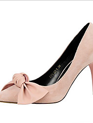 Heels Spring Summer Fall Comfort Leatherette Office & Career Party & Evening Dress Stiletto Heel Bowknot