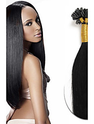 18Inch 8A Keratin U Tip Real Remy Human Hair Extensions 0.5g/s U Tip Fusion Hair Extensions Nail U Tip Hair Extensions Human Straight Hair 100s