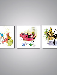 Stretched Canvas Prints  Cartoon City Girl Life  Picture Print Contemporary Art for Livingroom Decoration