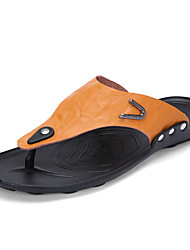 Herren-Slippers & Flip-Flops-Outddor Lässig-PUKomfort-Schwarz Gelb