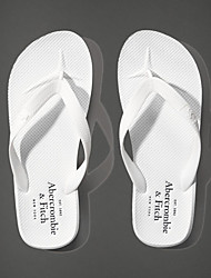 Masculino-Chinelos e flip-flops-Chanel-Rasteiro--Couro Ecológico-Casual