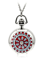 Masculino Relógio Esqueleto Relógio de Bolso Quartzo Lega Banda Prata