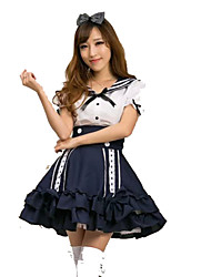 Cosplay Costumes Sailor/Navy Festival/Holiday Halloween Costumes Solid Color Dress Halloween Carnival Female
