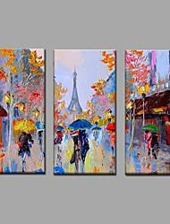Peint à la main Paysage Horizontale,Moderne Style européen Trois Panneaux Toile Peinture à l'huile Hang-peint For Décoration d'intérieur