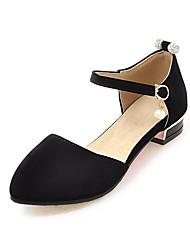 Women's Heels Spring Summer Comfort Leatherette Dress Casual Low Heel Buckle Walking