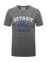 Homme Tee-shirt Pêche Respirable Eté Bleu Gris
