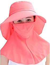 Feminino Casual Poliéster Verão Chapéu de sol,Sólido