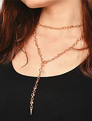 Women's Choker Necklaces Jewelry Jewelry Ball Copper Rhinestone Tassel Tassels Euramerican Fashion Personalized Jewelry For Daily Casual1