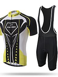 XINTOWN® Super Man Mens Short Sleeve Cycling Jersey 3D Padded Bib Short Set Quick-dry Polyester