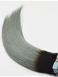 Tape in Hair Extension Ombre Human Hair Straight Grey Sliver Ombre Skin Weft Remy Indian Tape Hair Extensions Fashion Grey Hair